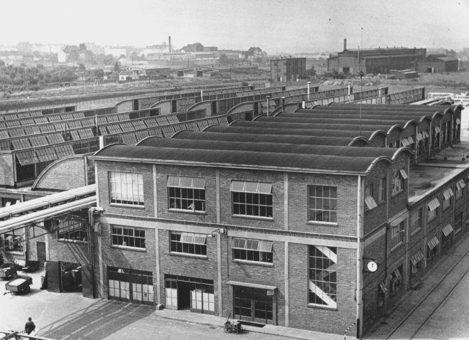 A39734, Gloeilampenfabriek, complex Rothe Erde, Aken, Duitsland, 1950, 882